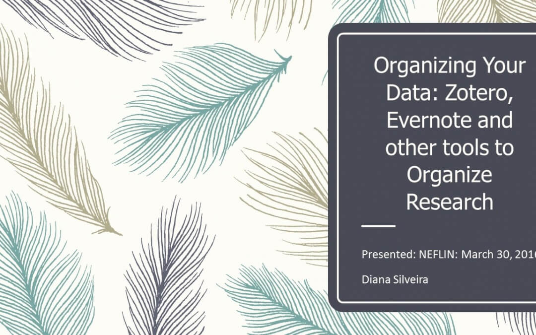 Organizing Your Data