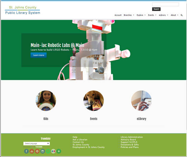 New St Johns County Website by Novare