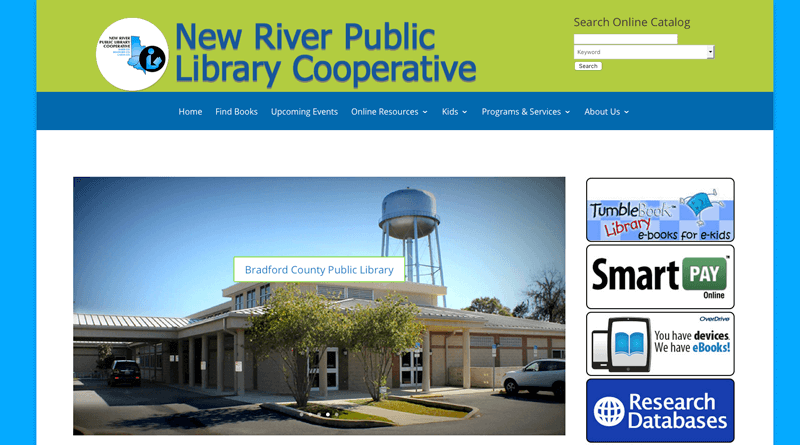 New River Public Library Cooperative – Live with a new webpage