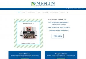 Screenshot of NEFLIN New Website